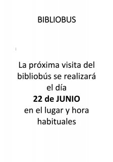VISITA BIBLIOBUS Y PAUTAS DE USO EN COVID-19
