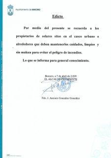 AYUNTAMIENTO DE BERCERO.- Edictos