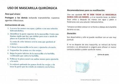 NORMATIVA PAR EL USO DE MASCARILLAS QUIRURGICAS